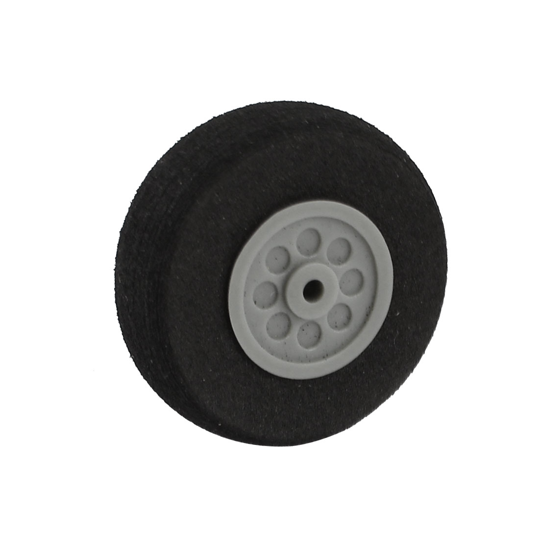 "RC Model Airplane 2mm Shaft Dia Sponge Tire Wheel 30mm 1.2"" Dia"