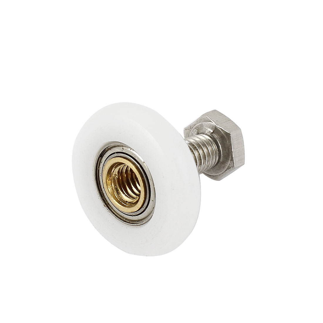 Closet Accessory White Nylon 23mm Dia Wheel Door Pulley Roller