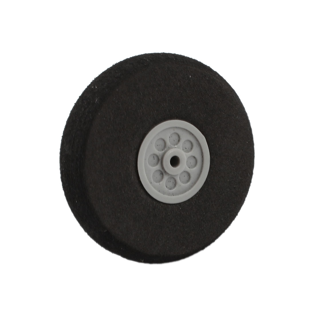 40mm Dia RC DIY Plane Model Airplane Repair Plastic Hub Foam Wheel Black