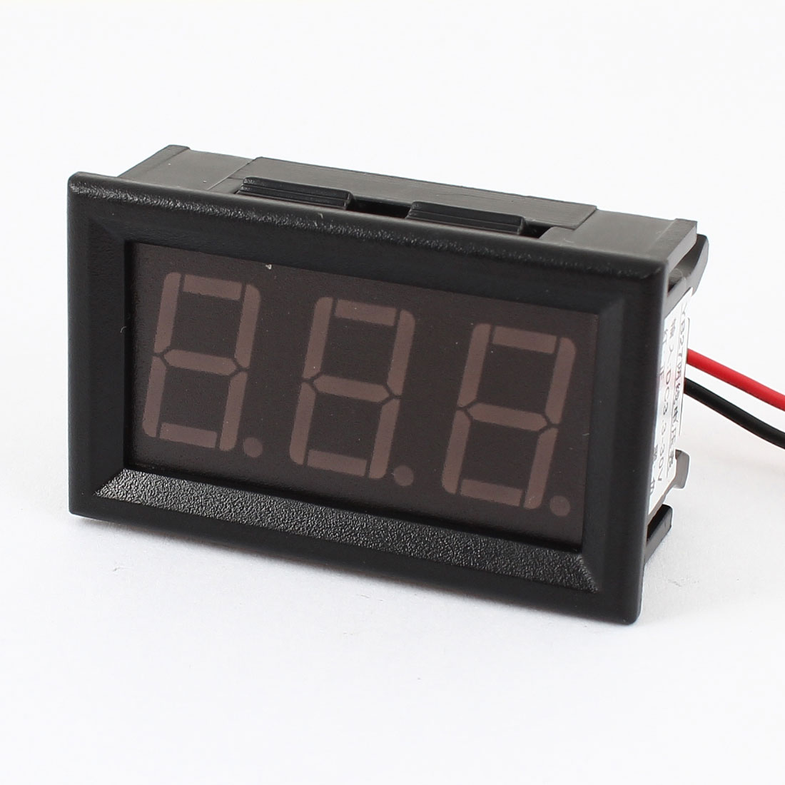 DC3.3-30V 3 Digits Red LED 2 Cables Waterproof Digital Voltmeter