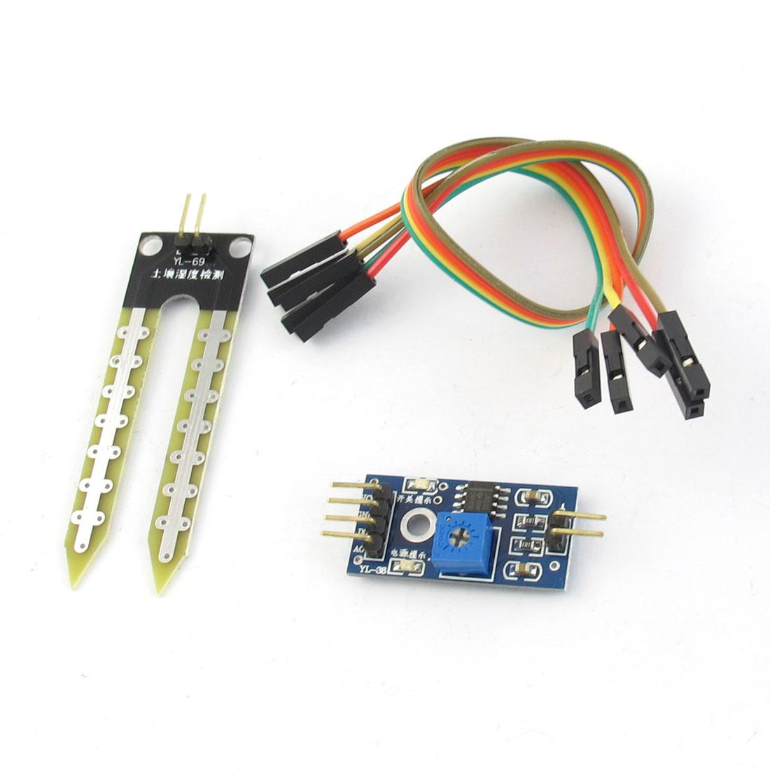 DC 3.3-5V Moisture Sensitive Soil Hygrometer Sensor Detection Control PCB Board Module