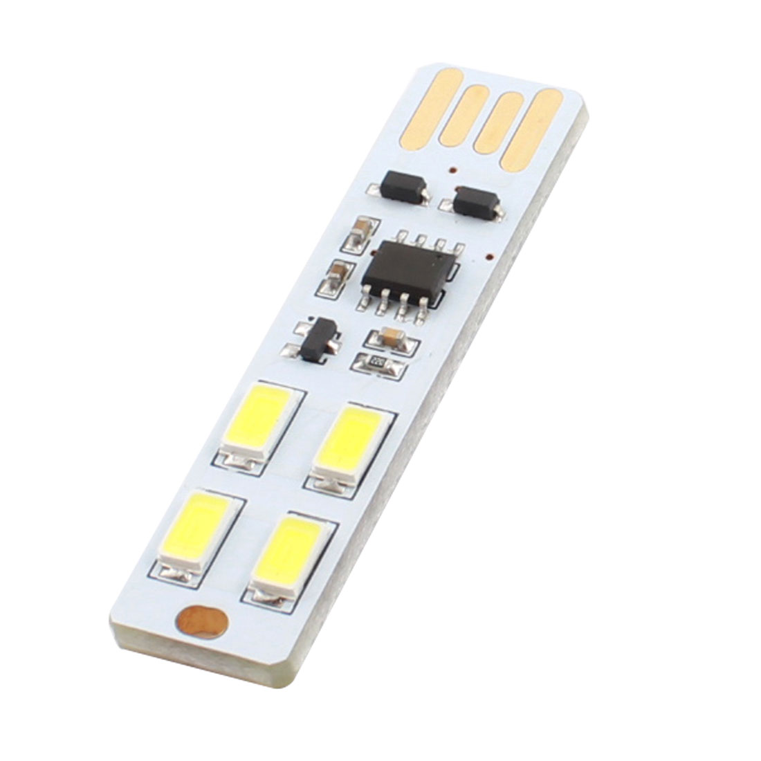 PCB Board USB 2.0 White SMD 5630 4LED Adjustable Mini Touch Dimmer Control Light Lamp for PC Notebook Laptop Computer