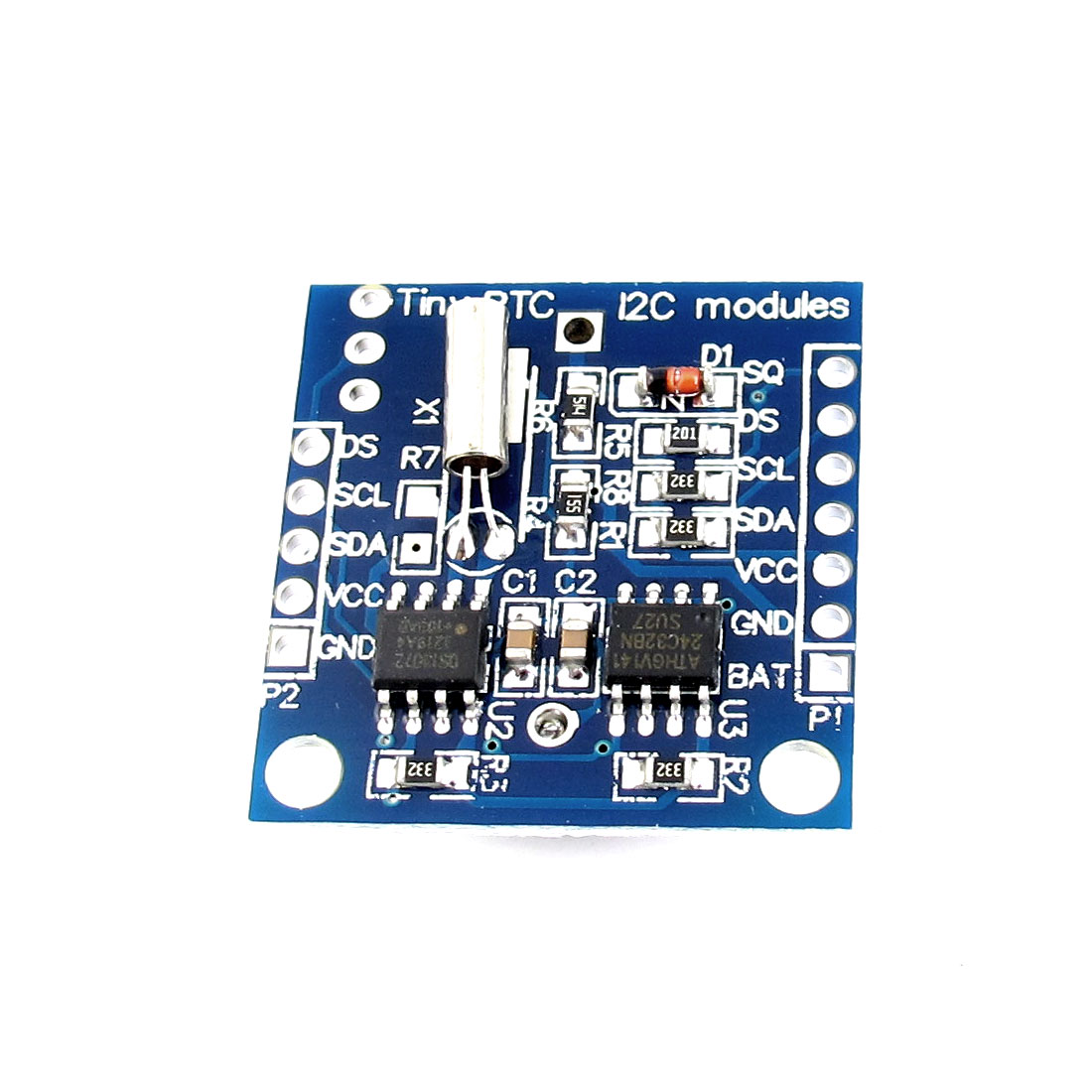 DC 3-5V I2C RTC DS1307 Real Time Clock Module Memory Storage PCB Board w LIR2032 Battery Holder