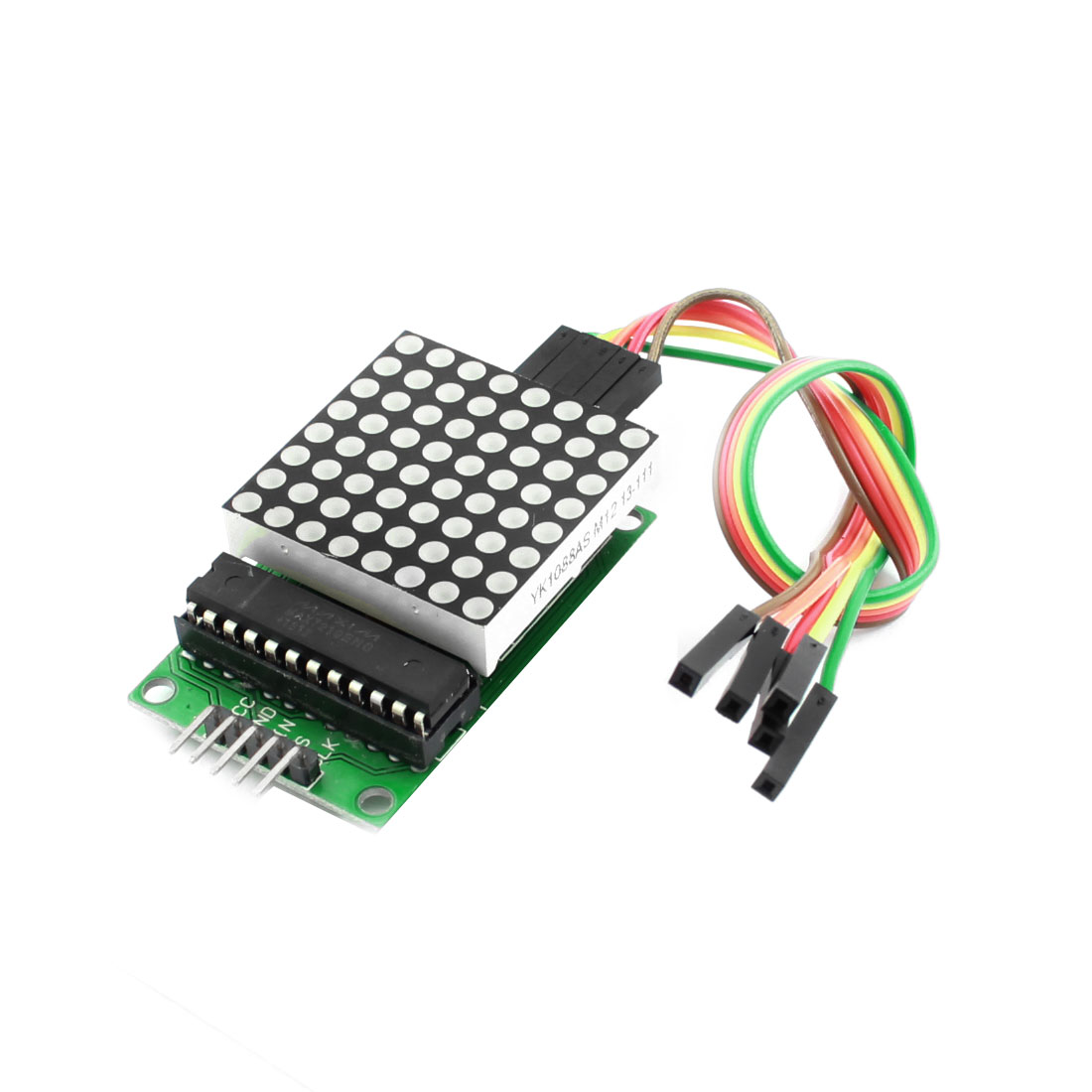 MAX7219 Red Dot 64LED Display Matrix Module w Cable for MCU Control