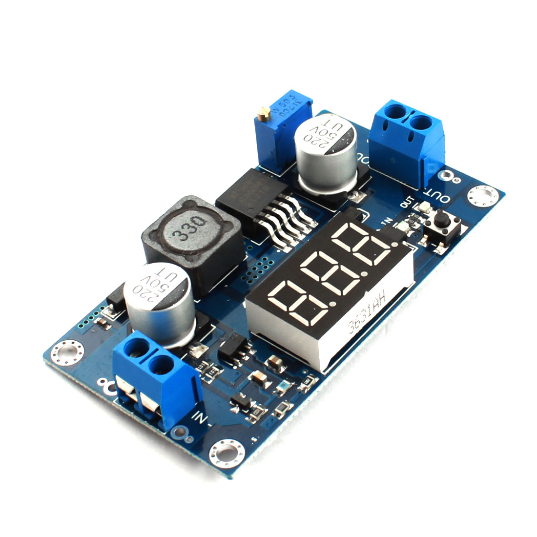 XL6009 4.5-33V Adjustable DC to DC Step Up Boost Module Board w LED Display