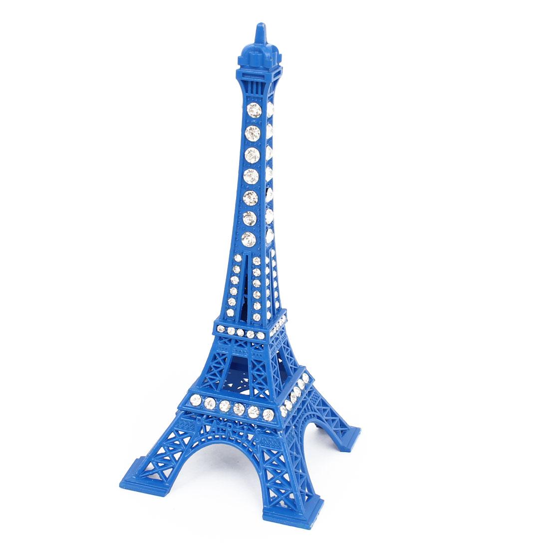 Rhinestone Mini Eiffel Tower Paris France Souvenir Metal Statue Model 13cm