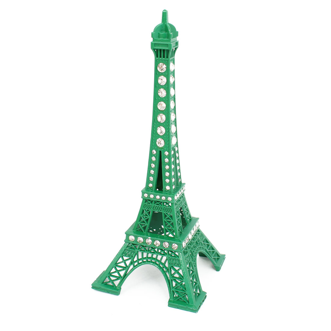 Rhinestone Green Paris Eiffel Tower Figurine Sculpture Model Home Ornament Gift
