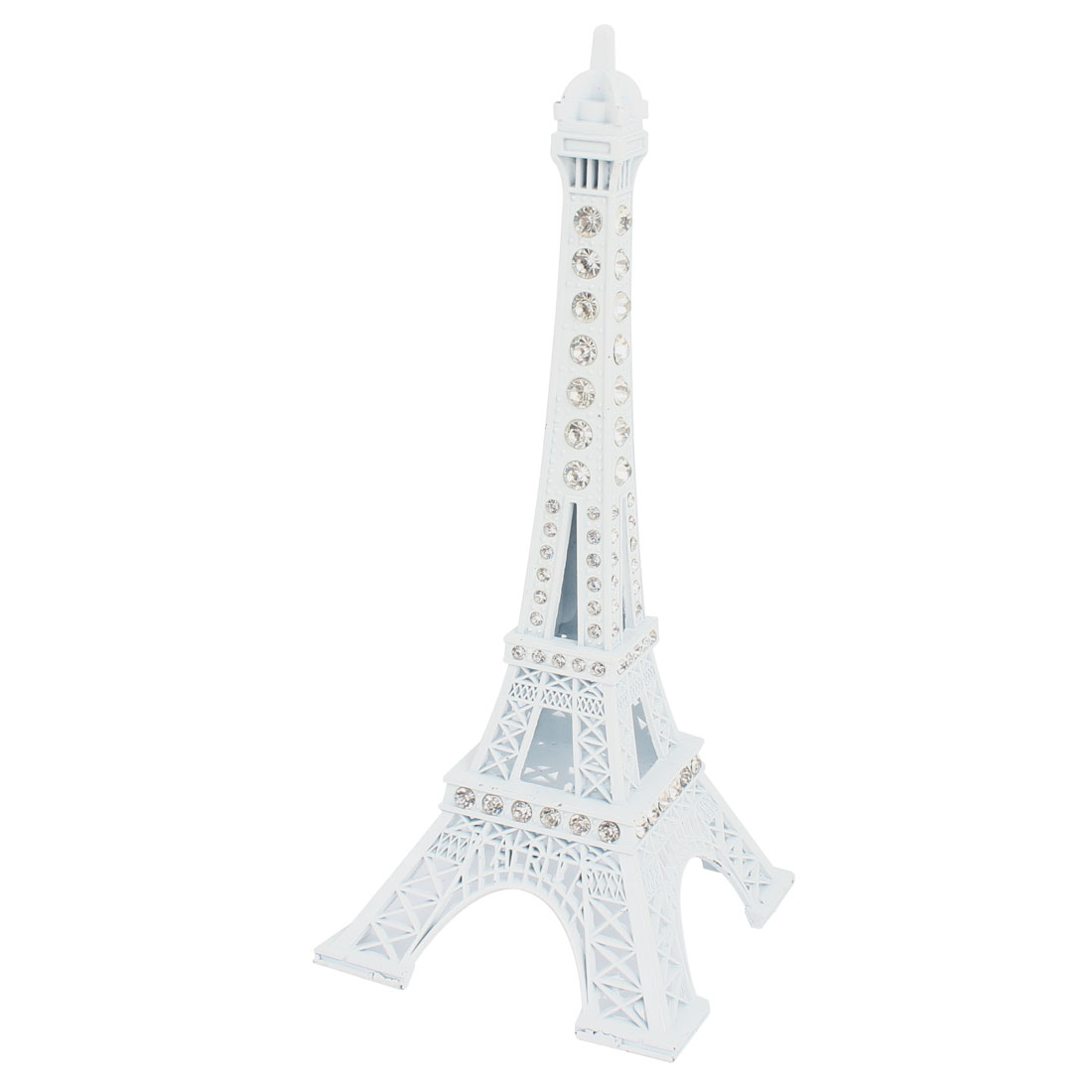 "7.1"" High Rhinestone Accent Paris Eiffel Tower Metal Sculpture Model Desk Decor"