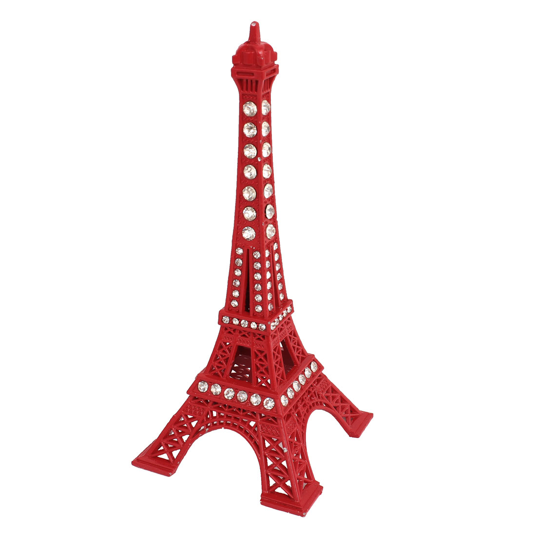 "Red 5.1"" Height France Miniature Eiffel Tower Sculpture Model Ornament"