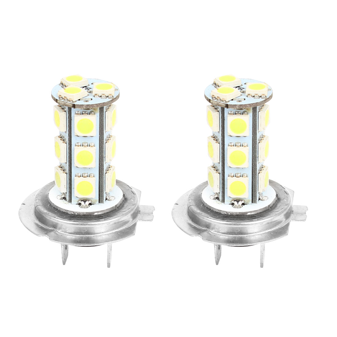 Car H7 18 LED 5050 LED Bulb Headlight Fog Light Lamps DC12V White 2 Pcs