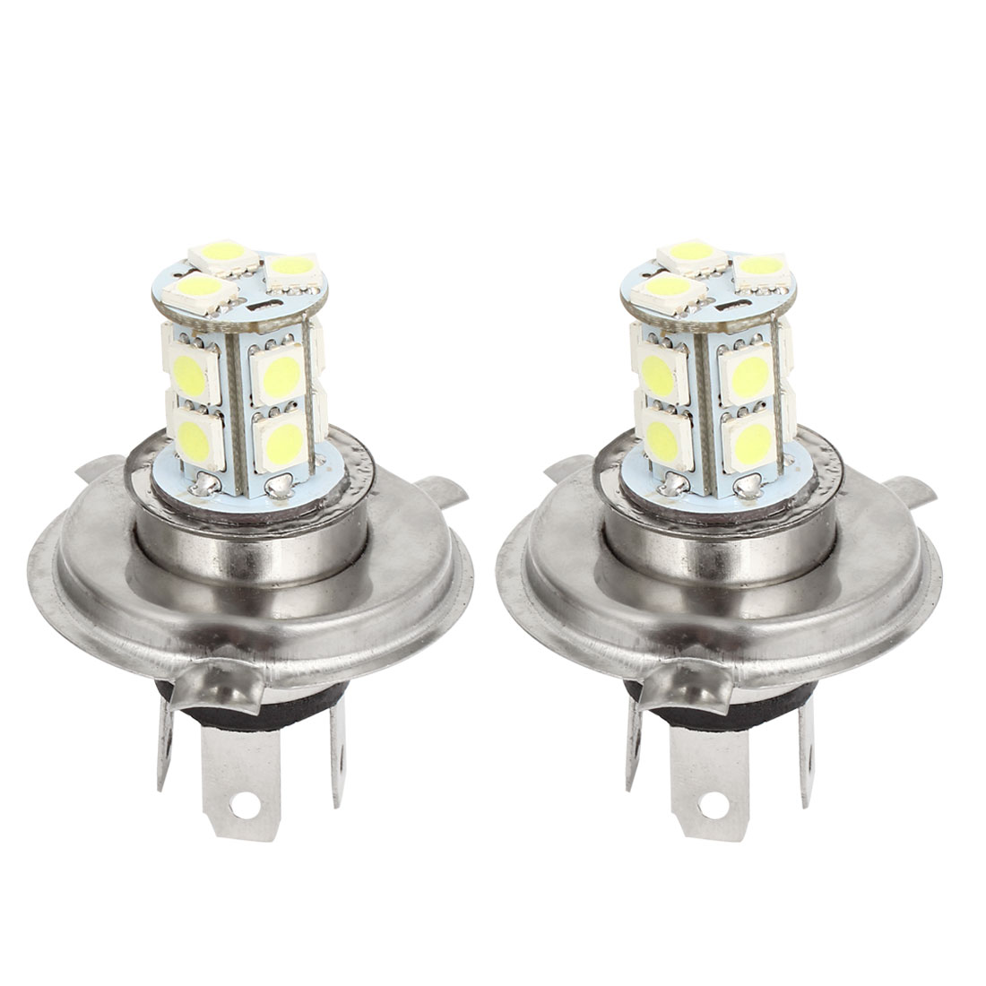 2 Pcs H4 12V 5050 SMD 13 LED Car Head Light Lamp Bulb DC 12V White