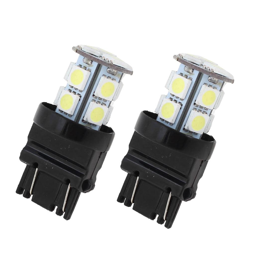 Car 3157 T25 5050 SMD 13 White LED Brake Parking Light Lamp Bulbs 4114 2 Pcs