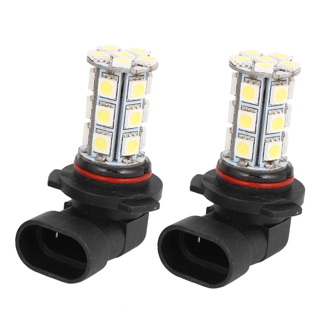 Car 24 LED 5050 SMD HB3 9005 HID White Fog Day DRL Light Lamp Bulb DC 12V 2 Pcs