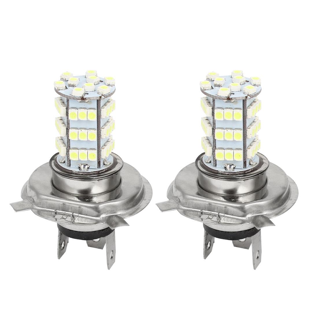 DC 12V Car Auto White H4 3528 54 LED Foglight Head Light Lamp 2 Pcs