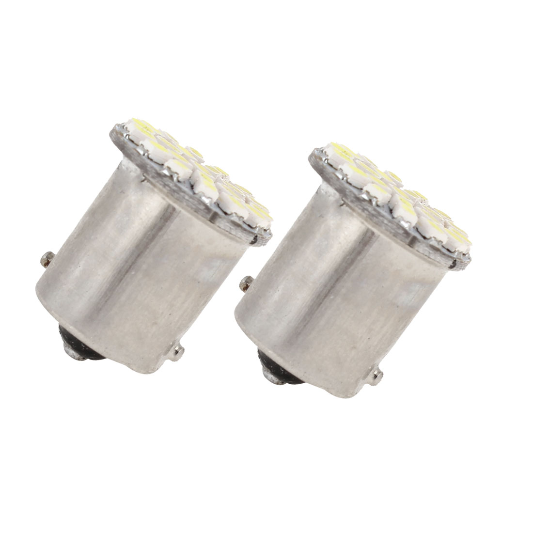 2 Pcs White 22 LED 1156 BA15S 1206 SMD Car Indicator Backup Tail Turn Light 1073 1093 1129