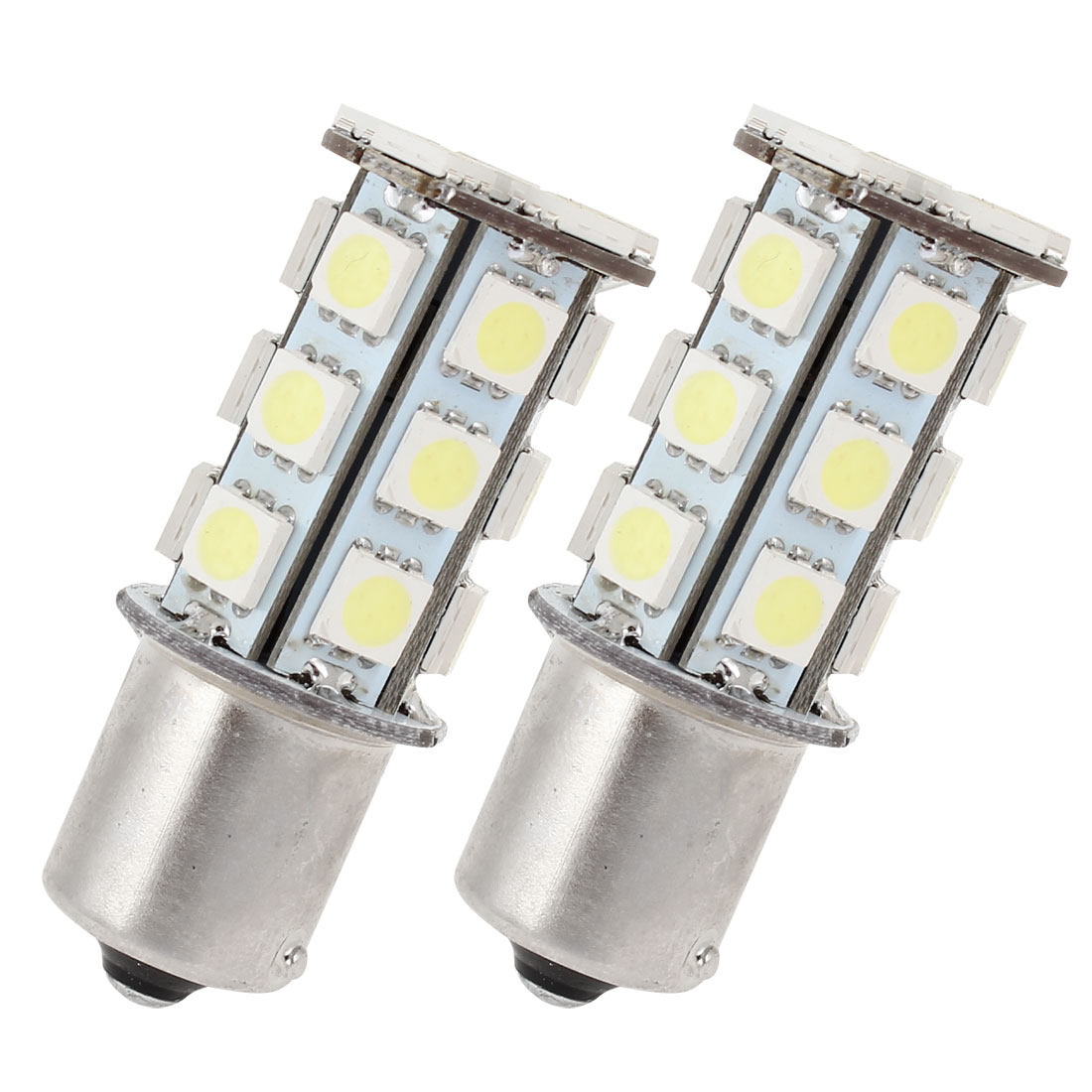Car 5050 24LED BA15S 1156 Corner Tail Turn Signal Light White 1073 1159 2 Pcs