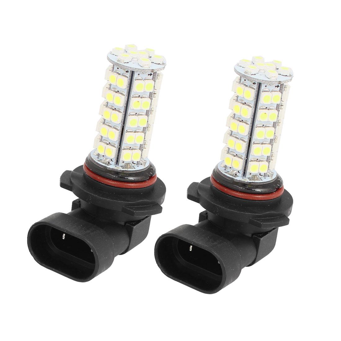 Car 9006 3528 68 SMD LED White Head Light Daytime Bulb Lamp 12V 2 Pcs
