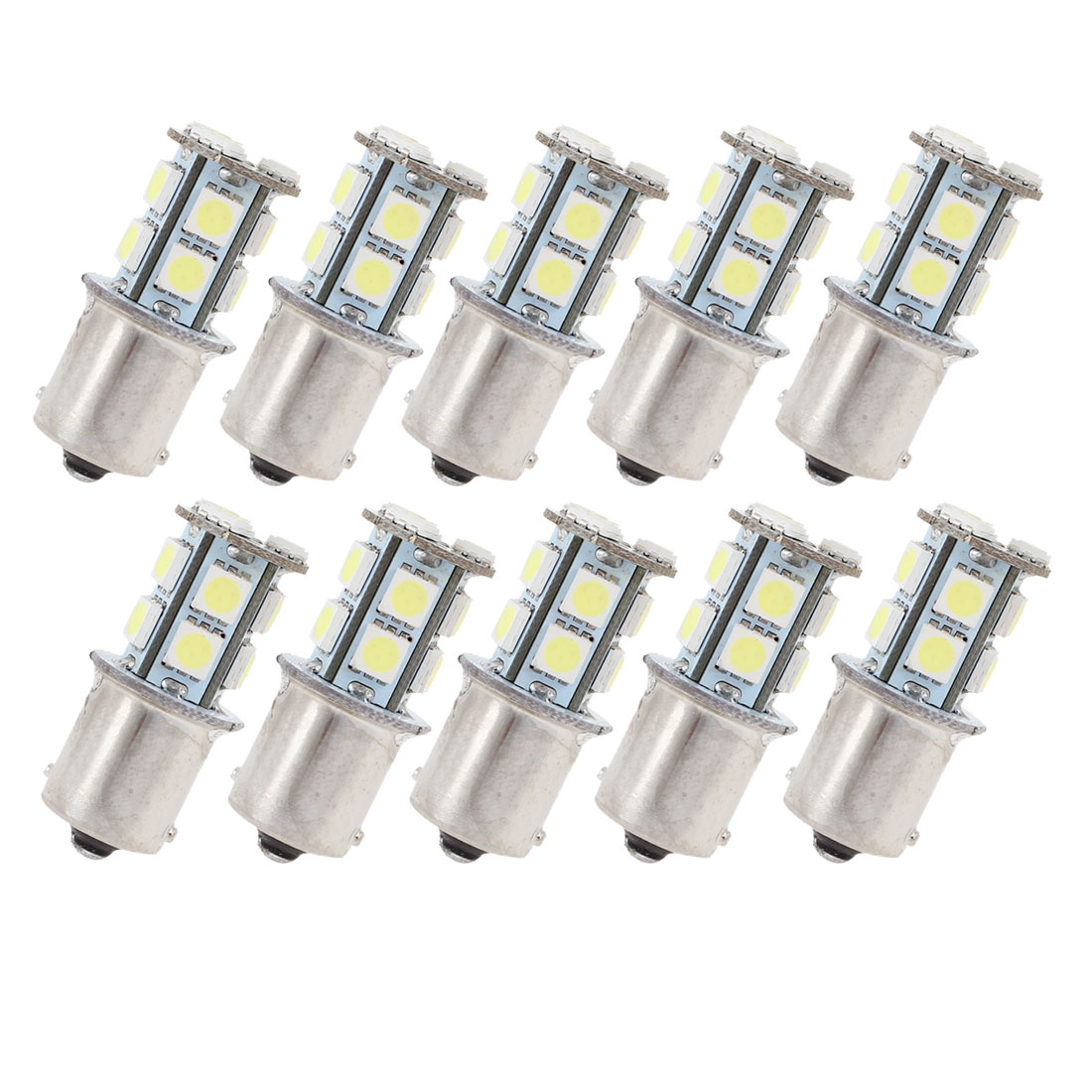 10 Pcs White 13 LED 1156 BA15S 5050 SMD Car Indicator Backup Tail Turn Light 5008