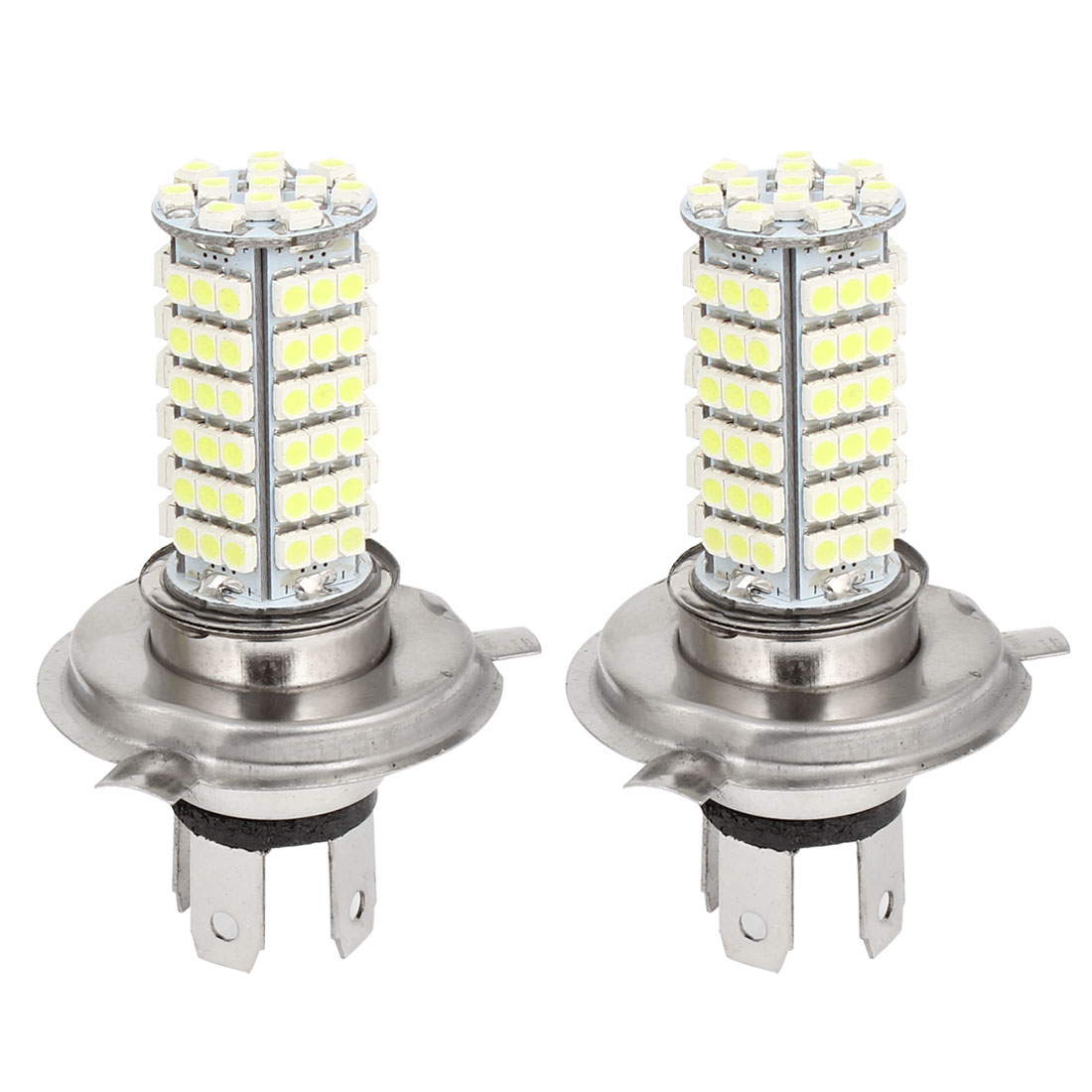 DC 12V Car Auto White H4 3528 1210 102 LED Foglight Head Light Lamp 2 Pcs