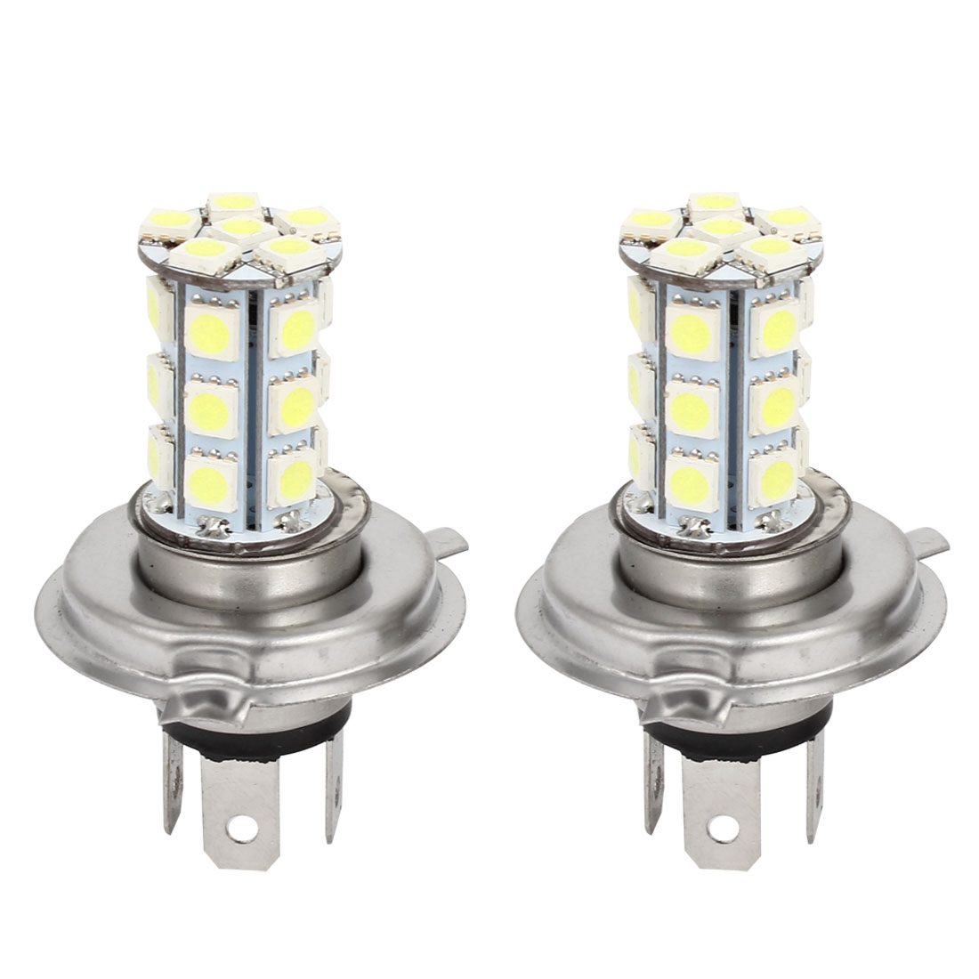 DC 12V Car Auto White H4 5050 24 LED Foglight Head Light Lamp 2 Pcs