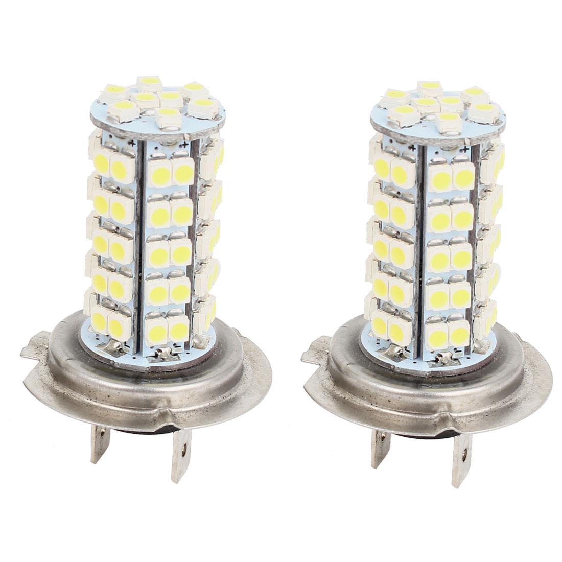 Car H7 68 LED 3128 LED Bulb Headlight Fog Light Bulb DC12V White 2 Pcs