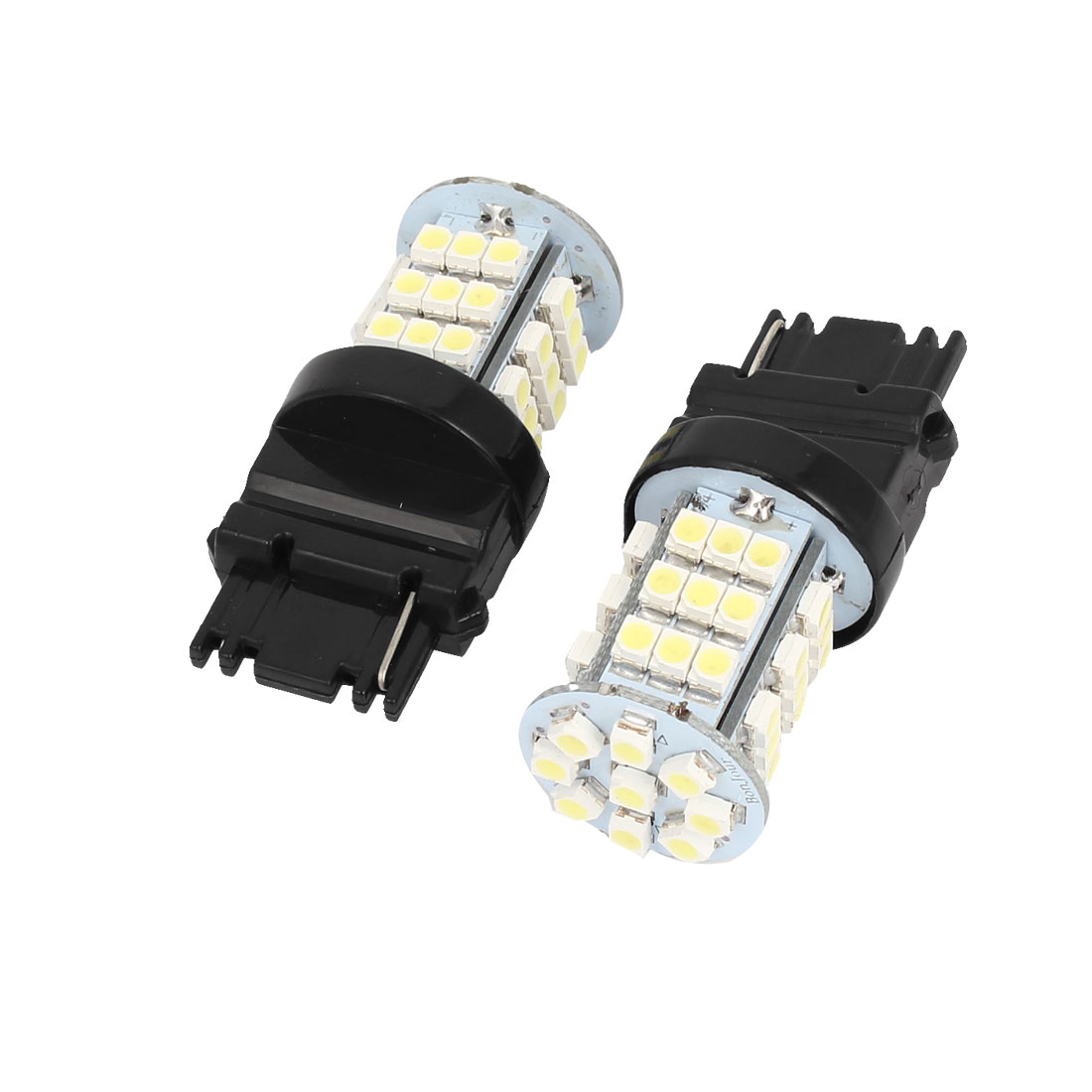 2 Pcs 3156 3528 SMD 45 LED Car Turn Signal Light Lamp Bulbs White 4114 4156