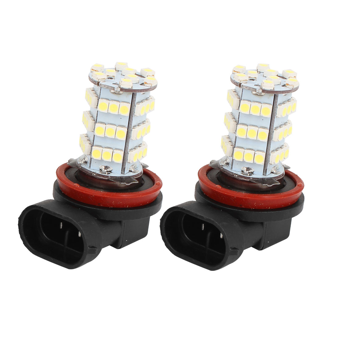Car White H11 54 LED 3528 1210 SMD Bulbs Fog Headlight Light Lamp 2 Pcs