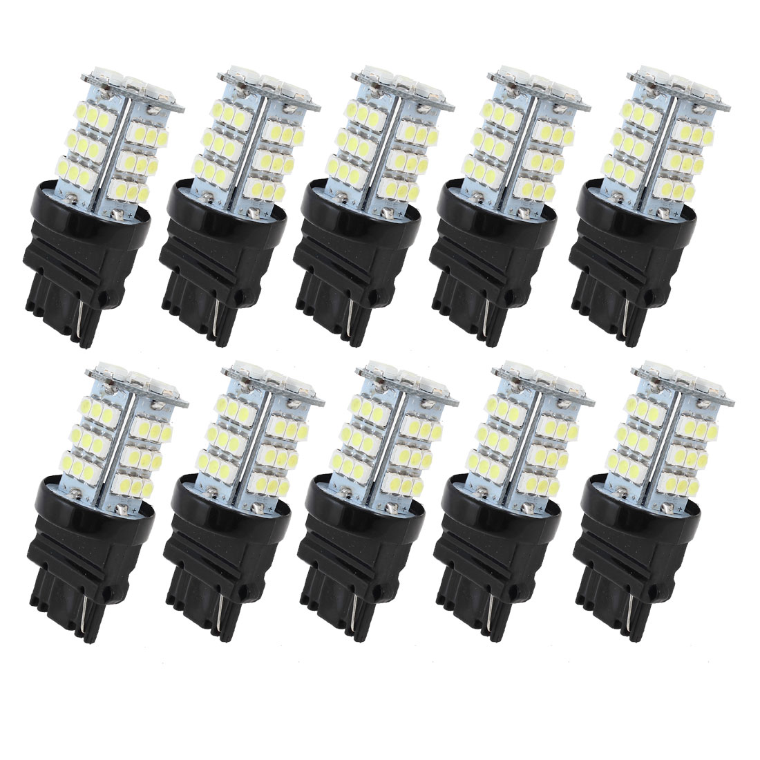 10 Pcs 3156 3528 SMD 45 LED Car Turn Signal Light Lamp Bulbs White 4114 4156