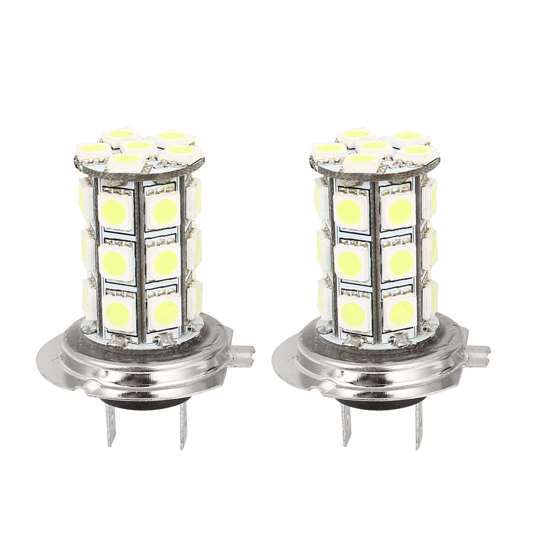 Car H7 27 LED 5050 LED Bulb Headlight Fog Light Lamps DC12V White 2 Pcs