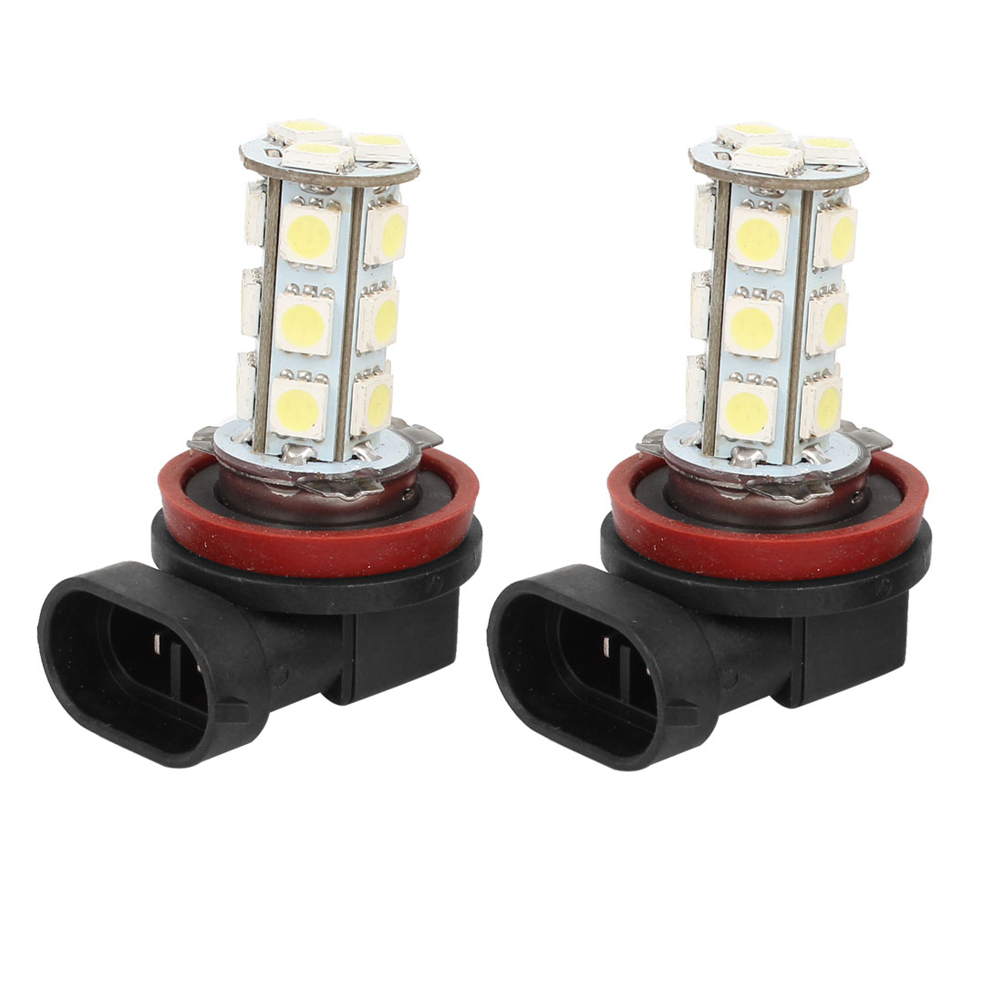 Car White H11 18 LED 5050 SMD Bulbs Fog Headlight Light Lamp 2 Pcs