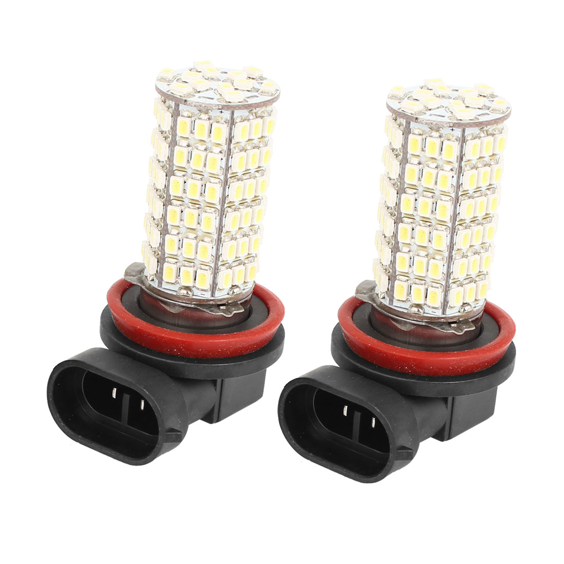 2 Pcs Car H11 120 SMD LED 3528 White Fog Parking Head Light Lamp Bulb 12V