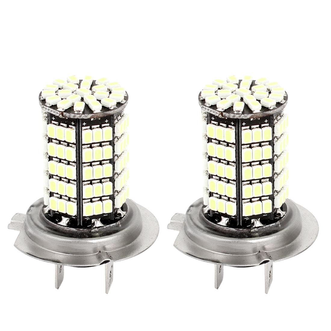 Car H7 127 LED 1206 LED Bulb Headlight Fog Light Lamps DC12V White 2 Pcs