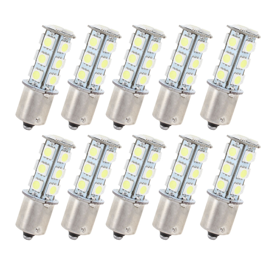 10 Pcs White 18 LED 1156 BA15S 5050 SMD Car Indicator Backup Tail Turn Light 1073 1093 1129