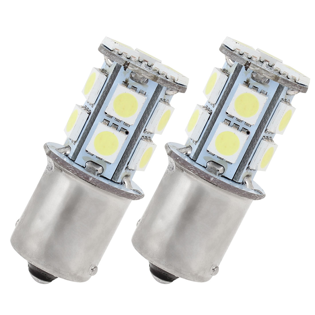 2Pcs White 13 LED 1156 BA15S 5050 SMD Car Indicator Backup Tail Turn Light 5008