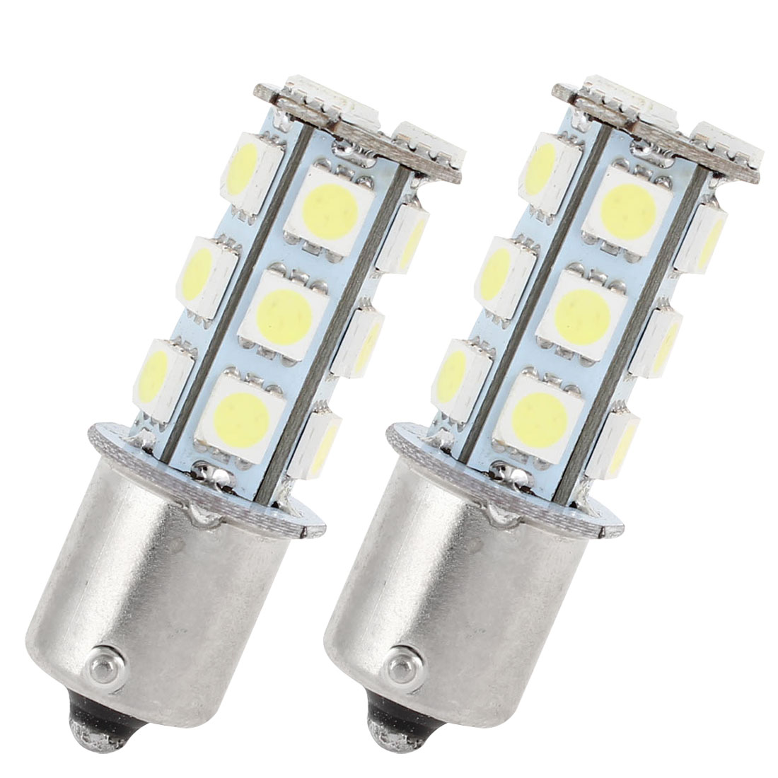 2 Pcs White 18 LED 1156 BA15S 5050 SMD Car Indicator Backup Tail Turn Light 5008