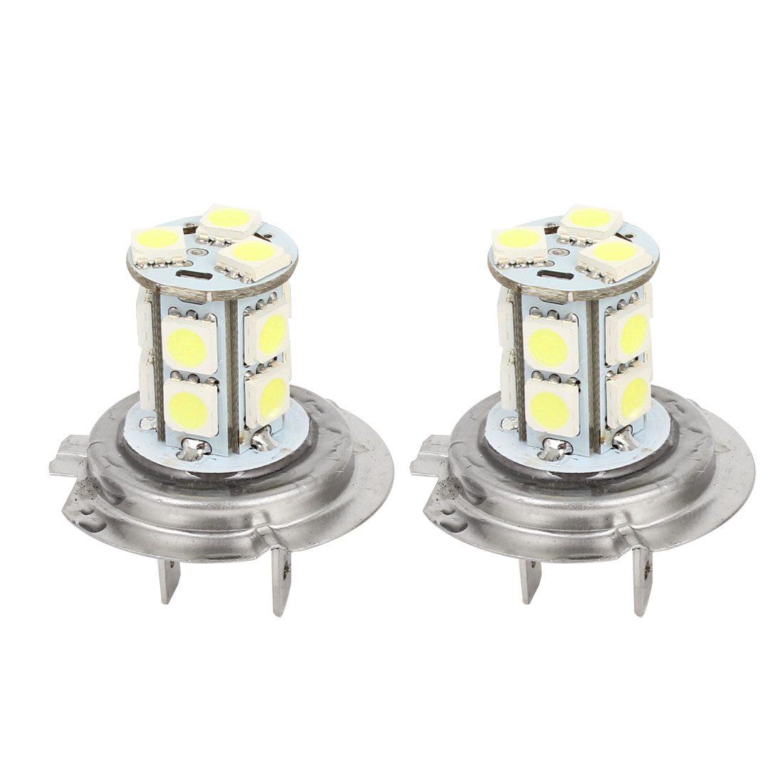Car White LED 13 SMD 5050 Bulbs H7 Fog Daytime Light Lamp 2 Pcs