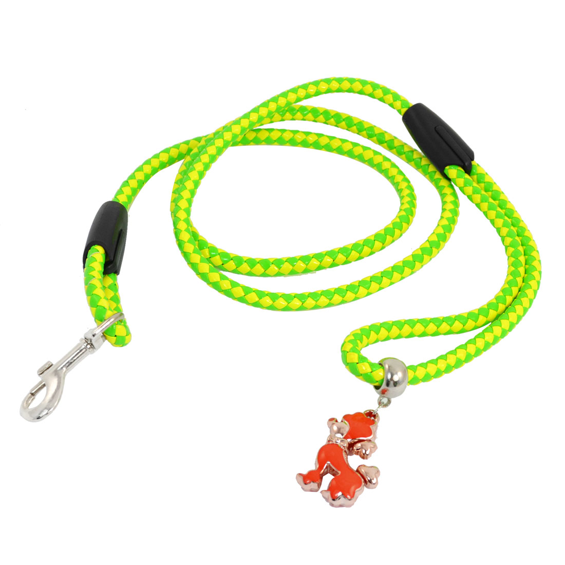 Yellow Green Plastic Twisted Rope Pulling Traction Leash for Pet Dog Doggy