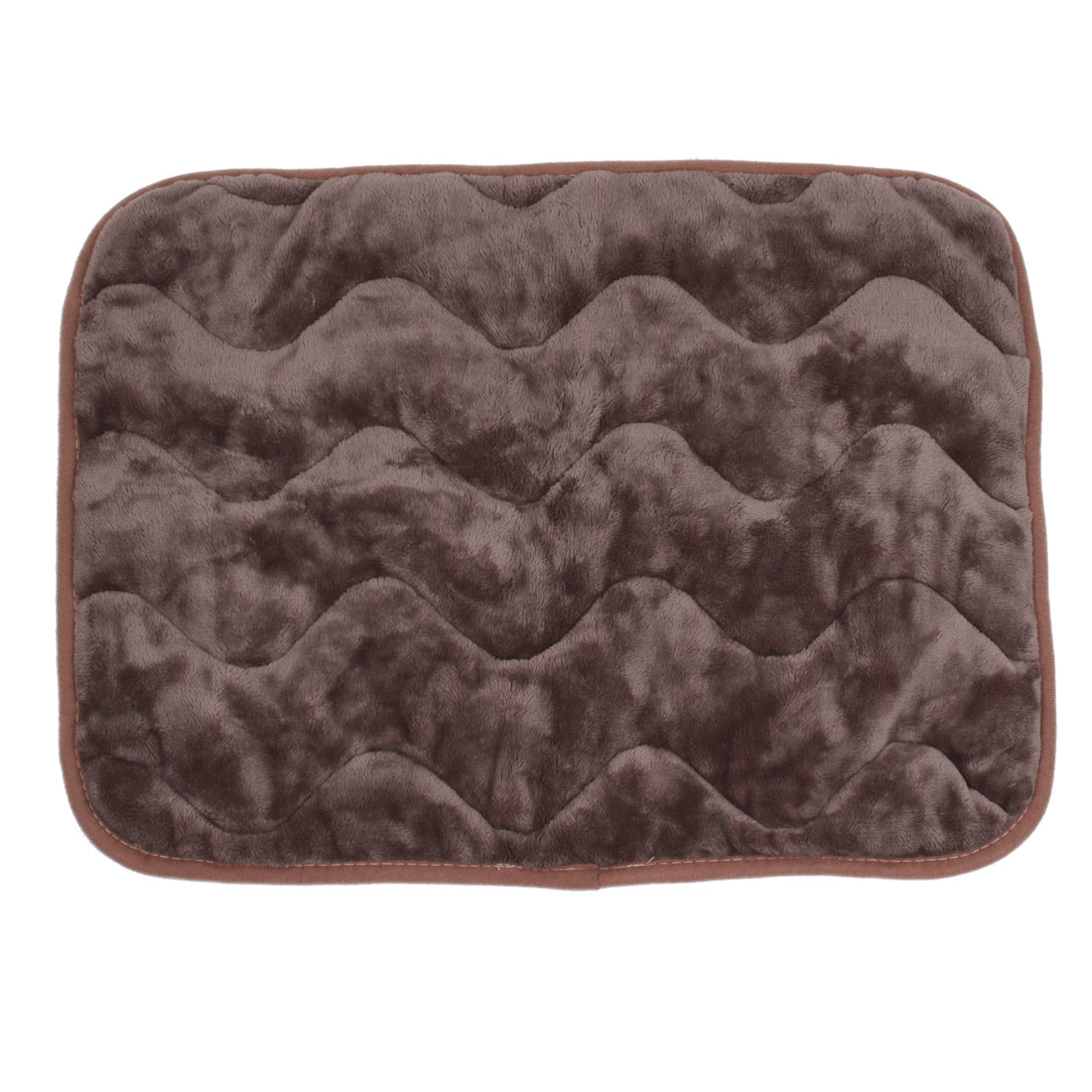 Chocolate Color Coral Fleece Warm Pet Dog Puppy Cushion Pad Mat 55cm x 45cm