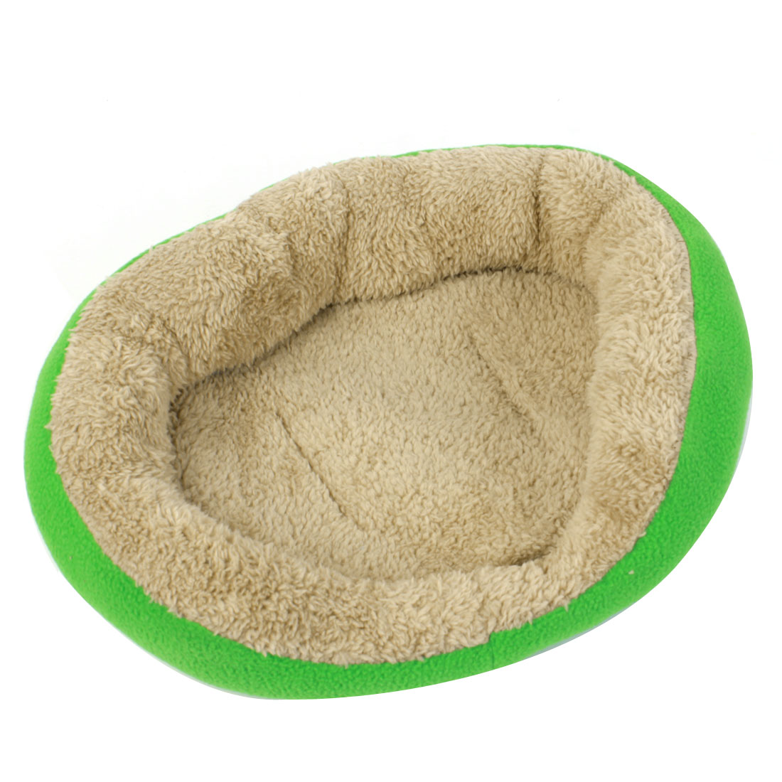 Green Beige Sleeping Warm Plush Mat Pet Dog Doggy Doghouse Kennel Pad