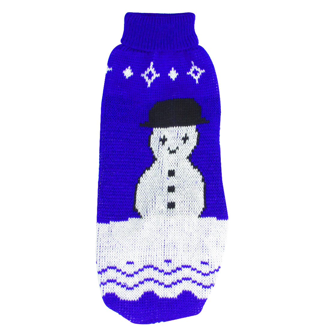 Blue White Black Snowman Print Pet Chihuahua Sleeves Sweater Apparel Size XXS
