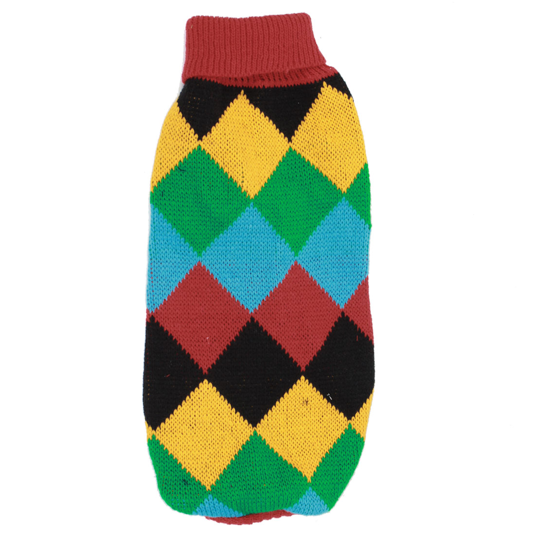 Pet Dog Chihuahua Ribbed Cuff Knitwear Turtleneck Apparel Coat Sweater Multi Color Size S