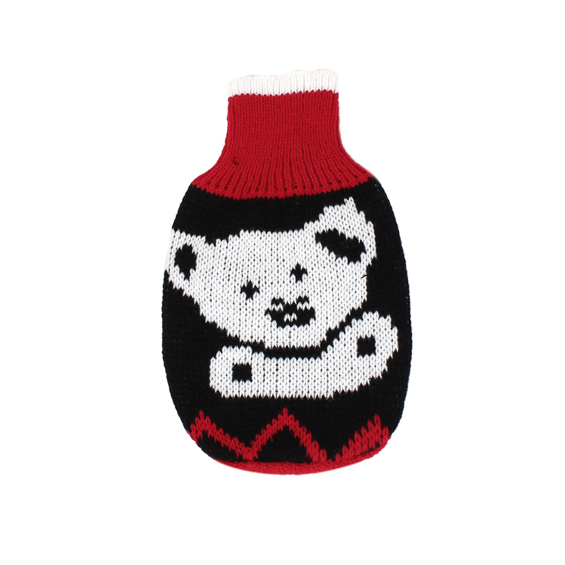 Pet Dog Puppy Ribbed Cuff Knitwear Turtleneck Apparel Sweater Red Black Whtie Size XXS