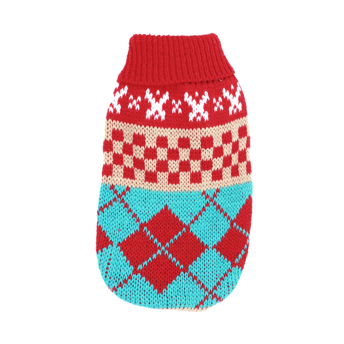 Plaids Pattern Multicolor Pet Chihuahua Sleeves Warm Sweater Apparel Size XXS