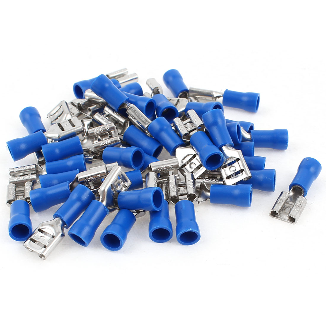 40 Pcs Blue Pre Insulated AWG16-14 Cable Spade Crimp Terminals FDD 2-250
