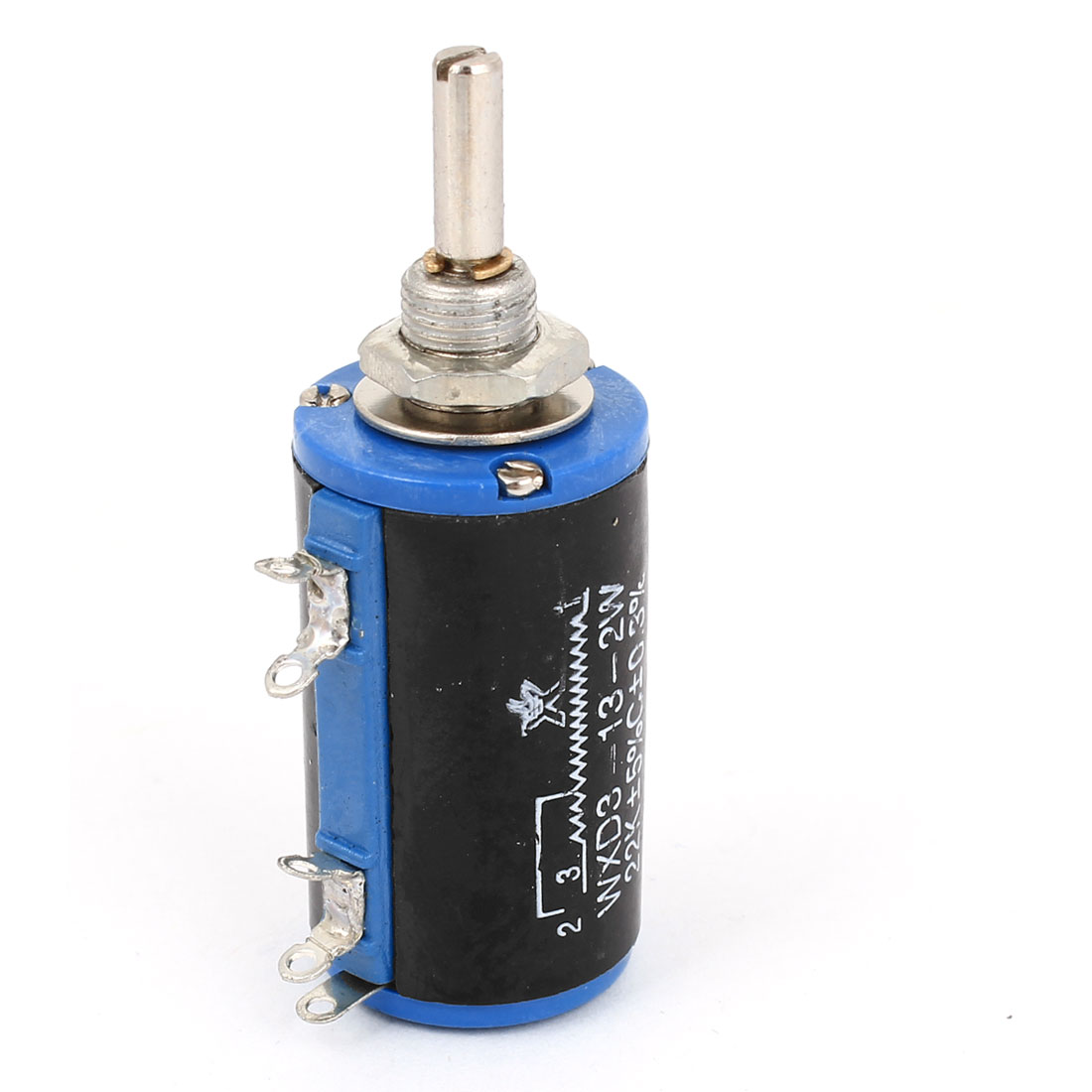 WXD3-13 22K ohm 2W 4mm Shaft 10 Turn Rotatable Wire Wound Potentiometer