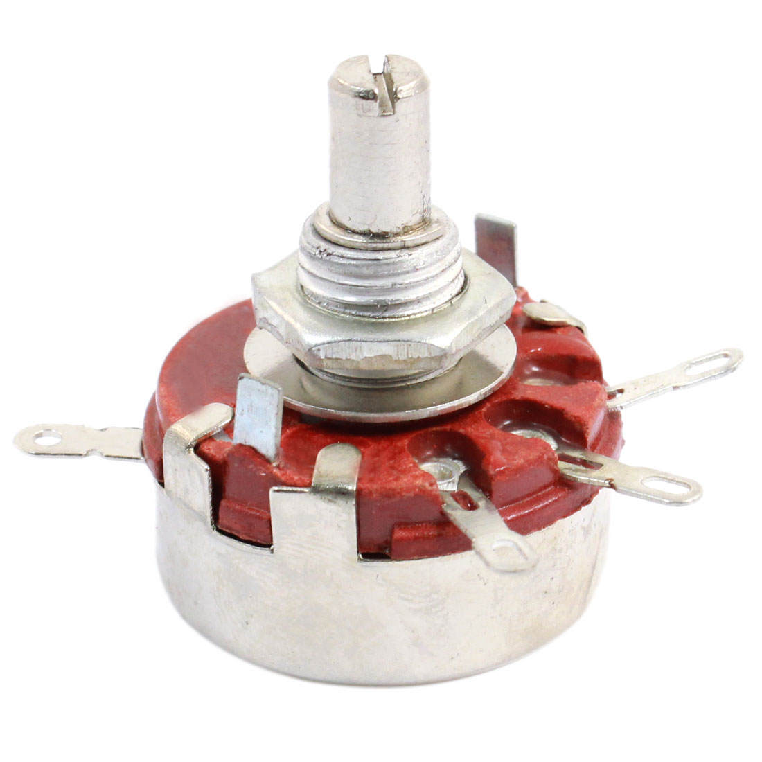 WTH118 2.2K ohm 2W Watt 6mm Round Shaft 4 Pins Carbon Rotary Potentiometer