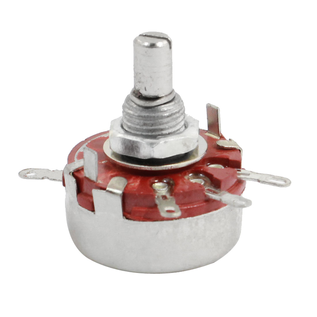 10K ohm 2Watt Single Turn Carbon Composition Rotary Potentiometer WTH118