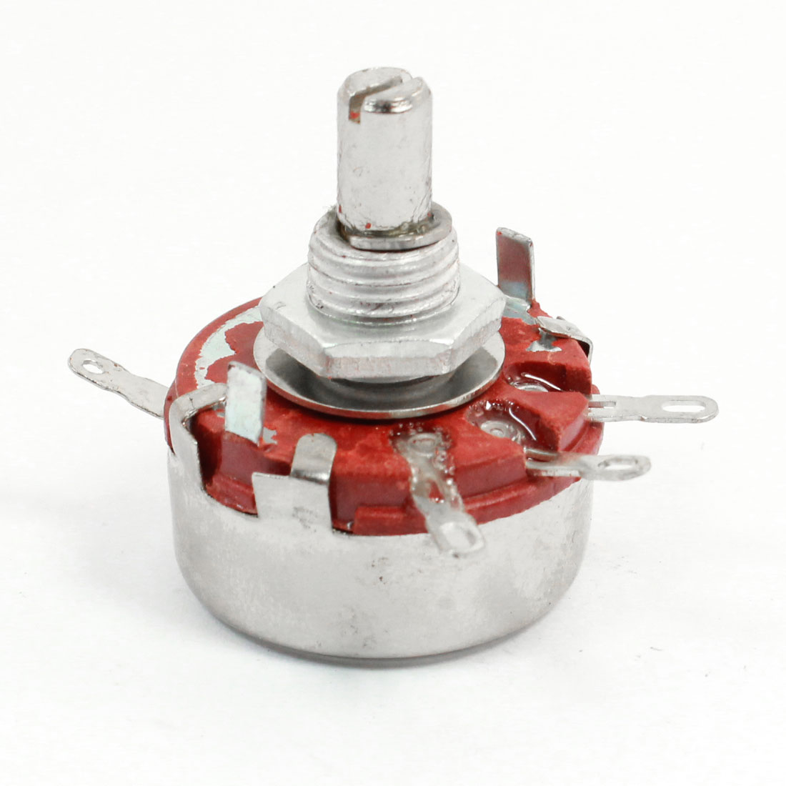 470K ohm 2 Watt Single Turn Carbon Composition Rotary Potentiometer WTH118