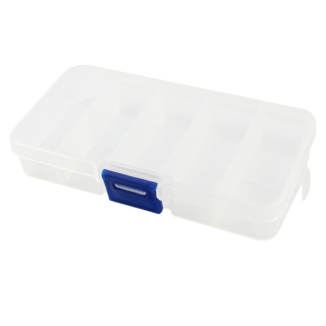 Rectangular Plastic Adjustable 10 Slots Fishhook Storage Box Case Organizer