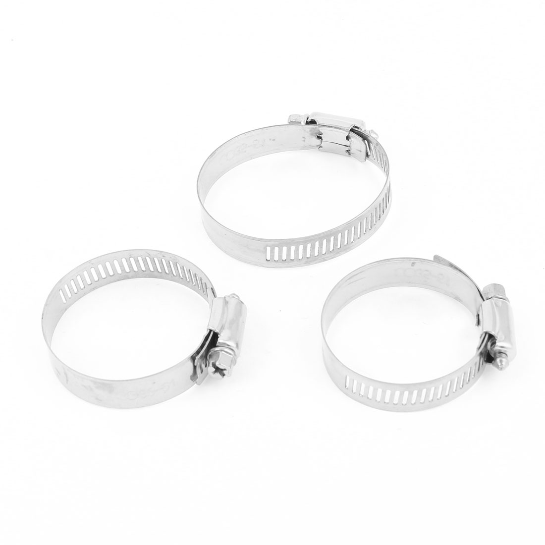 3pcs Stainless Steel Drive Hose Clamp Clip Replacement 35mm-51mm